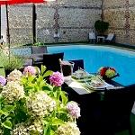 terrasse snacking piscine Trophée